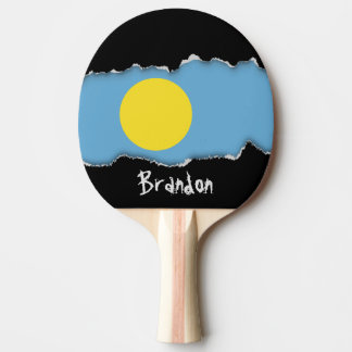 Palau Flag Ping Pong Paddle