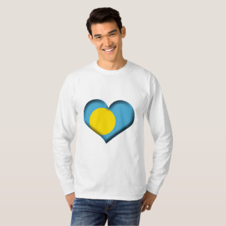 Palau Heart Flag T-Shirt