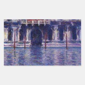 Palazzo Contarini by Claude Monet Rectangular Sticker