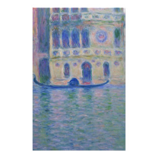 Palazzo Dario 4 by Claude Monet Stationery