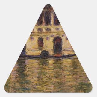 Palazzo Dario by Claude Monet Triangle Sticker