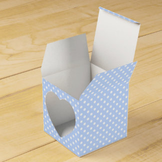 Pale Blue and White Polka Dot Favor Box Party Favour Boxes