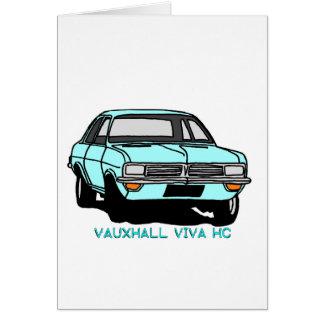 Pale Blue Viva Card
