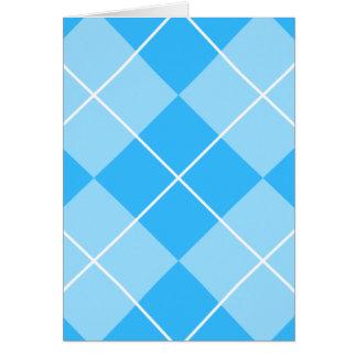 Pale Blues Argyle Card