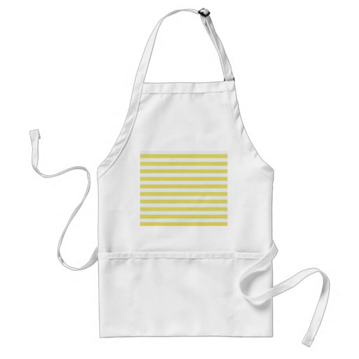 Pale Gold And White Stripes Aprons