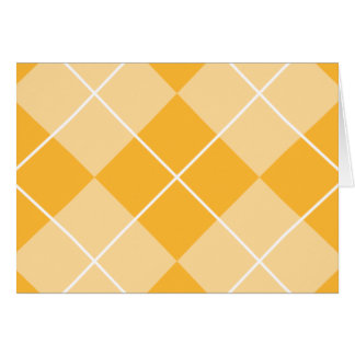 Pale Orange Sherbet Argyle Card