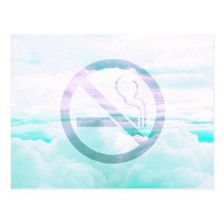 """Pale Pastel """"No Smoking"""" Design Postcard"""