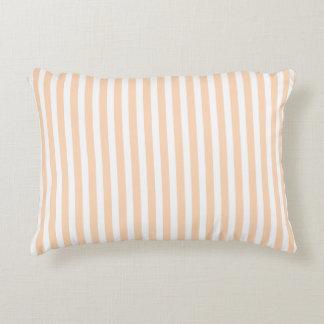 Pale Peach Angelskin Coral & White Stripe Decorative Cushion