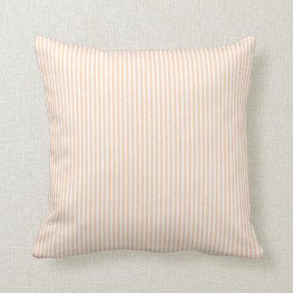 Pale Peach Angelskin Coral & White Stripe Wedding Cushion