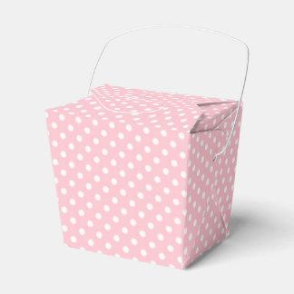 Pale Pink and White Polka Dot Favor Box