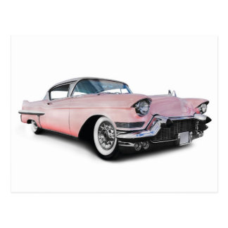 Pale Pink Cadillac Postcard