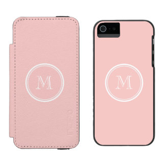 Pale Pink High End Colored Monogram Incipio Watson™ iPhone 5 Wallet Case