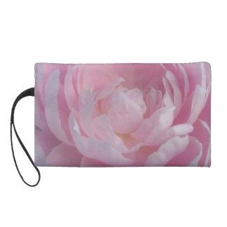 Pale Pink Peonies Wedding Evening Wristlet Bag