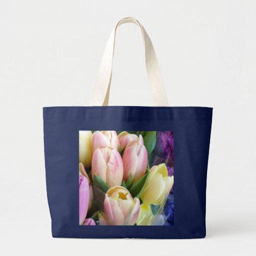 Pale Pink Tulips Fashion Canvas Bag
