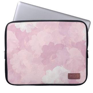 Pale Pink Watercolor Roses Laptop Sleeve