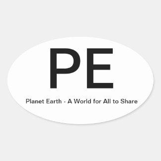 Palent Earth Oval Bumper Sticker