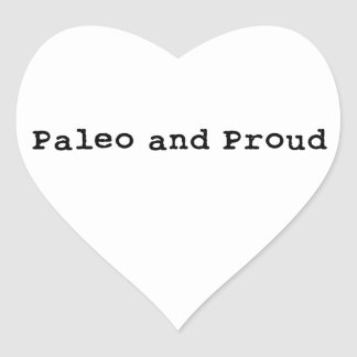 Paleo and Proud Heart Sticker