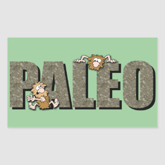 Paleo Cavemen Rectangular Sticker