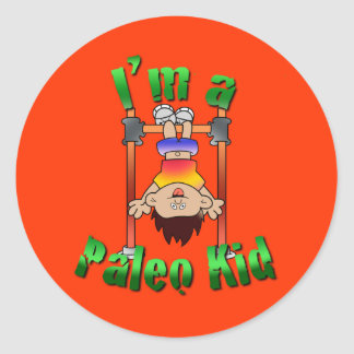 Paleo Kid Classic Round Sticker