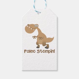 Paleo Stompin'! T-Rex Gift Tag