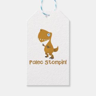 Paleo Stompin'! Velociraptor Gift Tag
