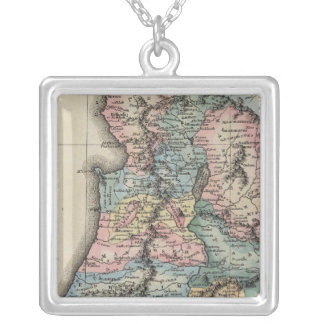 Palestine 2 silver plated necklace