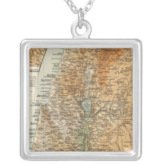 Palestine 3 silver plated necklace