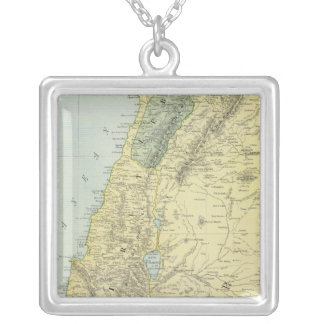 Palestine 4 silver plated necklace