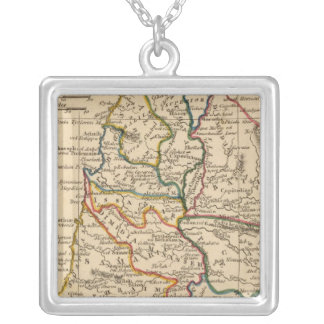 Palestine 5 silver plated necklace