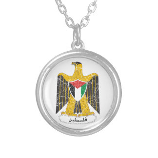 Palestine Coat Of Arms Silver Plated Necklace