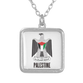 PALESTINE - emblem/flag/coat of arms/symbol Silver Plated Necklace