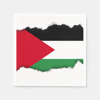 Palestine Flag Disposable Serviettes