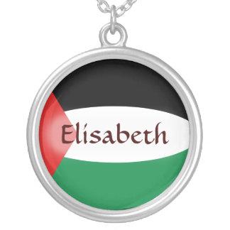 Palestine Flag + Name Necklace