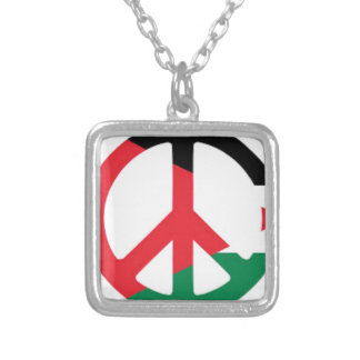 Palestine Flag Silver Plated Necklace