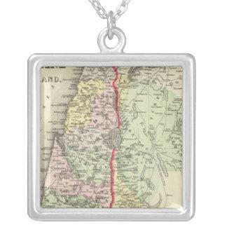 Palestine, Jerusalem 2 Silver Plated Necklace