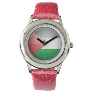 palestine rounded flag watch