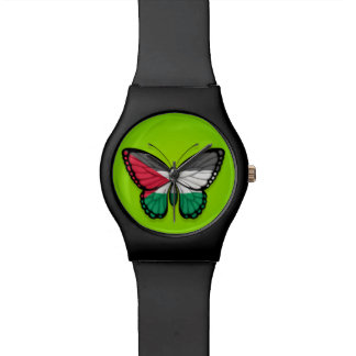 Palestinian Butterfly Flag on Green Watches