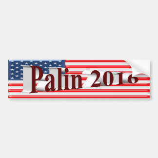 PALIN 2016 Bumper Sticker, Burgundy 3D,Old Glory Bumper Sticker