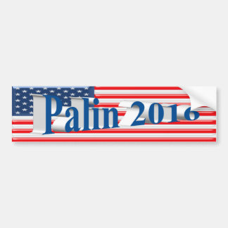 PALIN 2016 Bumper Sticker, Sea Blue 3D,Old Glory Bumper Sticker