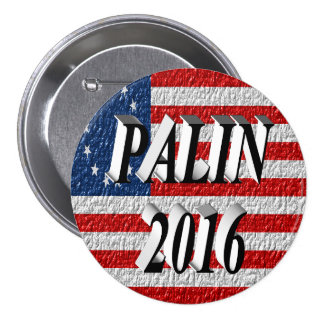 PALIN 2016 Button, Black 3D, Betsy Ross 7.5 Cm Round Badge