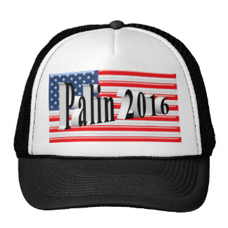 PALIN 2016 Cap, Black 3D, Old Glory Cap