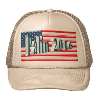 PALIN 2016 Cap, Blue-Green 3D, Old Glory Cap