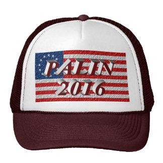 PALIN 2016 Cap, Burgundy 3D, Betsy Ross Cap
