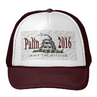 PALIN 2016 Cap, Burgundy 3D, White Gadsden Cap