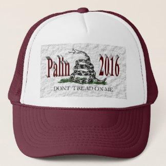 PALIN 2016 Cap, Burgundy 3D, White Gadsden Trucker Hat