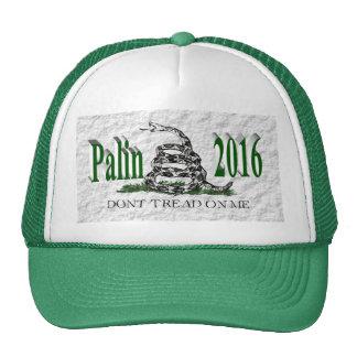 PALIN 2016 Cap, Green 3D, White Gadsden Cap