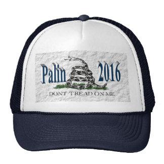 PALIN 2016 Cap, Ocean Blue 3D, White Gadsden Cap