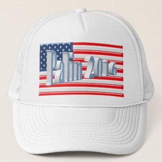 PALIN 2016 Cap, Powder Blue 3D, Old Glory Trucker Hat