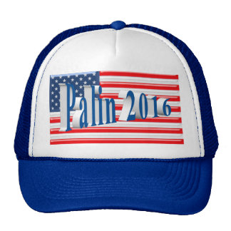 PALIN 2016 Cap, Sea Blue 3D, Old Glory Cap