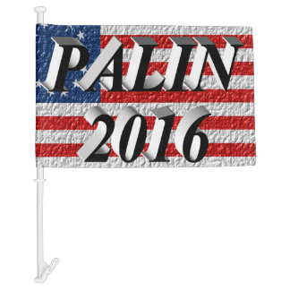 PALIN 2016 Car Flags, Black 3D, Betsy Ross Car Flag